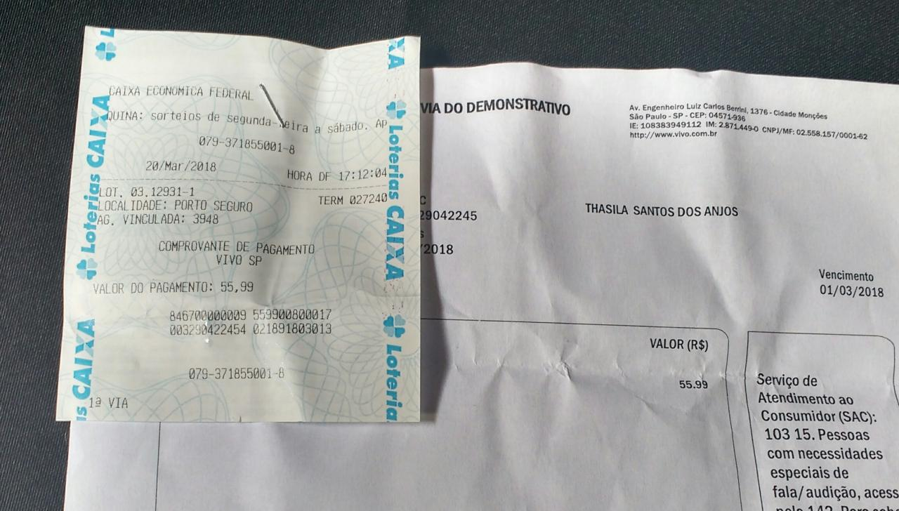 comprovante de pagamento loterica